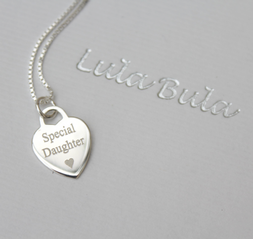 Personalised silver jewellery gift  - FREE ENGRAVING